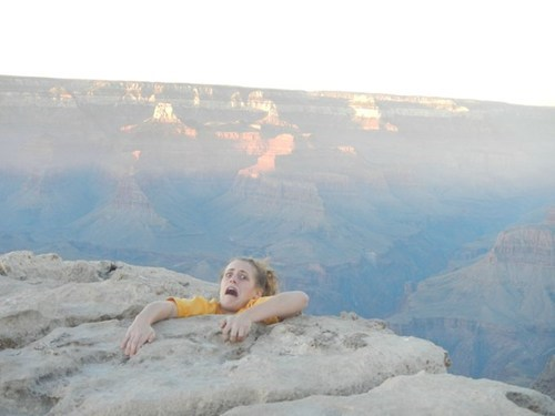 Photo,prank,grand canyon,perfectly timed