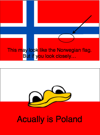 Norway,poland,flag