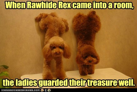 When Rawhide Rex came into a room, the ladies guarded their treasure well.