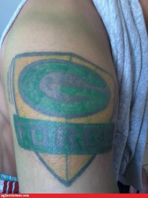 green bay packers arm tattoos g force - 6776025856