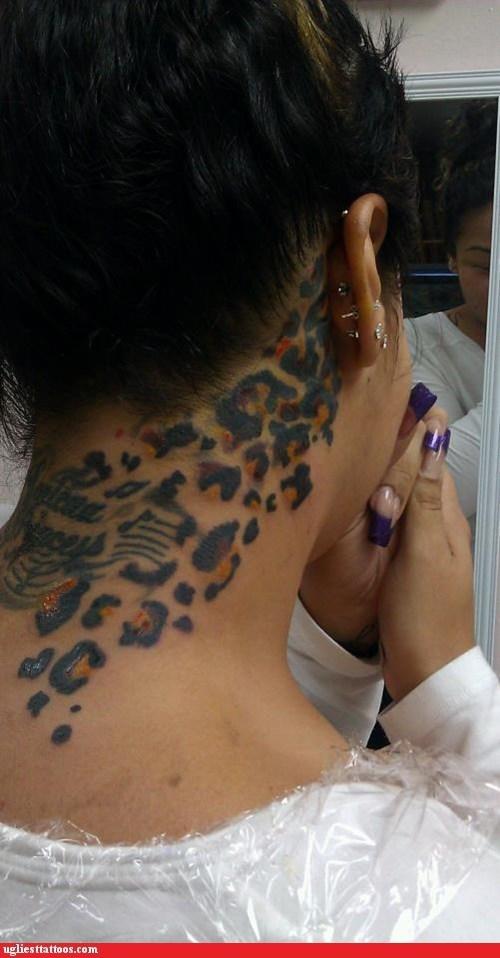 neck tattoos leopard print - 6776029696