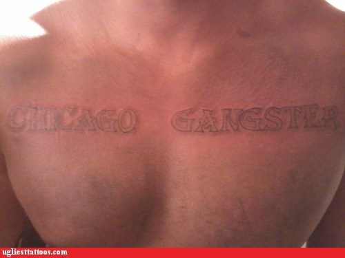 chicago ganster chest tattoos