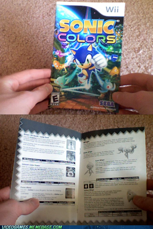 manual sonic colors wii sonic - 6778095616