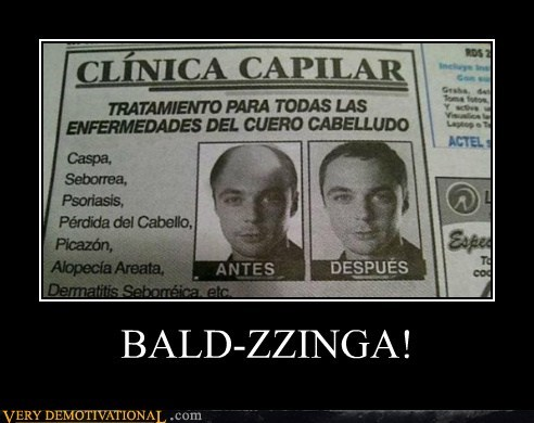 bald,big bang theory,bazinga