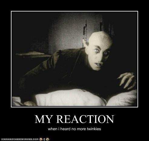 MY REACTION when i heard no more twinkies