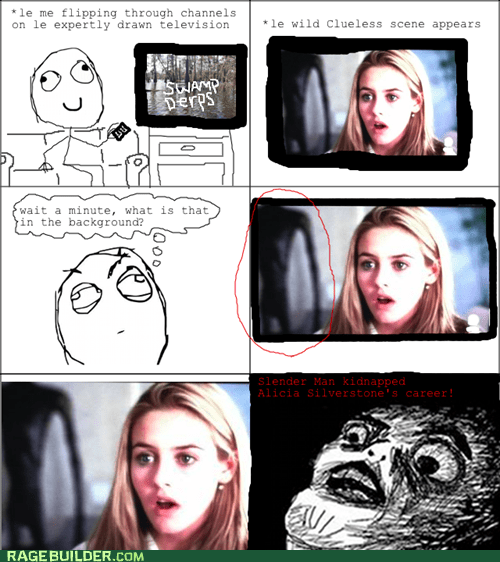 slender man,background,kidnapped,TV,alicia silverstone