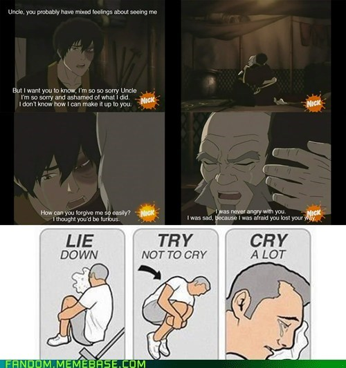 cry a lot,Avatar the Last Airbender,cartoons