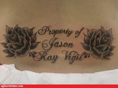 tramp stamp property of - 6780434176