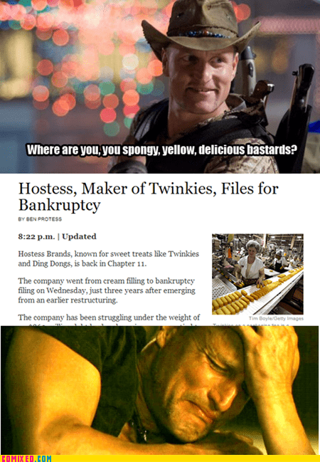 creying twinkies hostess Zombieland