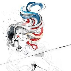 patriotic,art,wonder woman