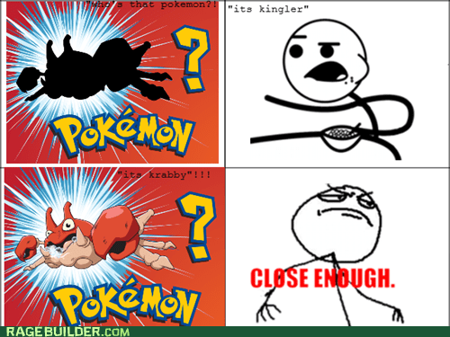 cereal guy,Pokémon,whos-that-pokemon,Close Enough,kingler,krabby