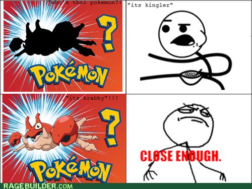 cereal guy Pokémon whos-that-pokemon Close Enough kingler krabby - 6780928000