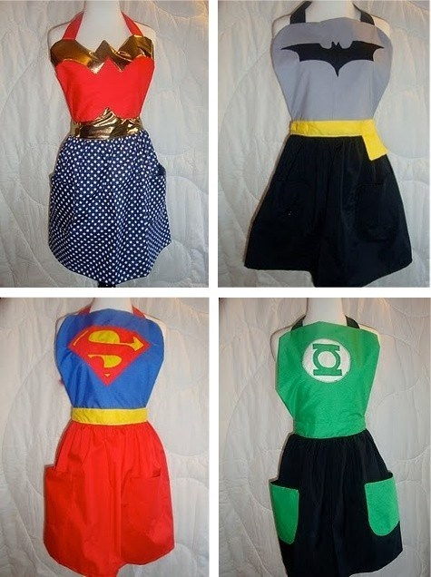 apron wonder woman kitchen batman Green lantern super girl - 6780989952