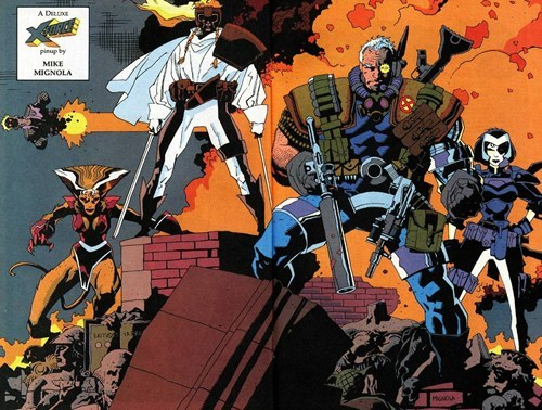 art,x-force,cabal,pin up,mike mignola