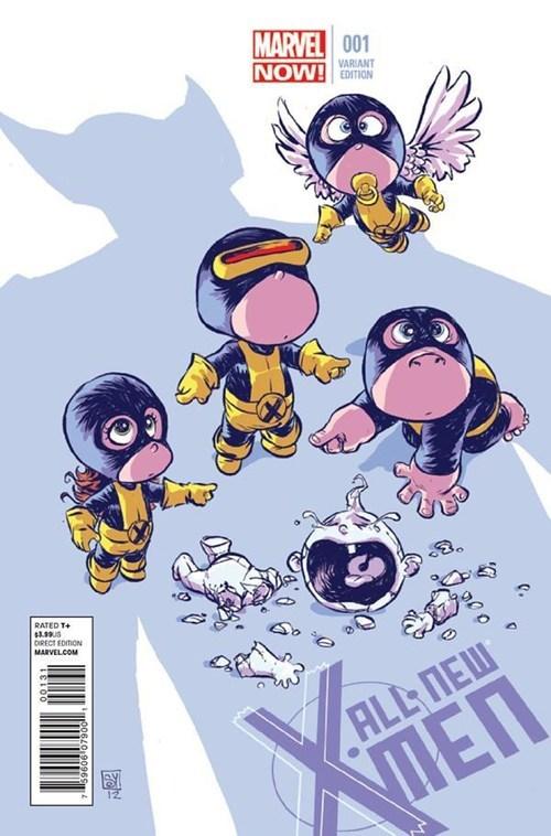 Babies angel beast iceman cyclops wolverine jean grey - 6781158656