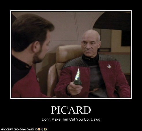 cut you william riker Captain Picard Jonathan Frakes Star Trek patrick stewart