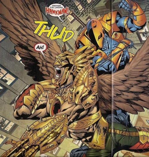 deathstroke falling Hawkman - 6782179328
