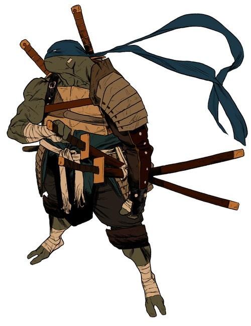 samurai,art,TMNT,amazing,leonardo