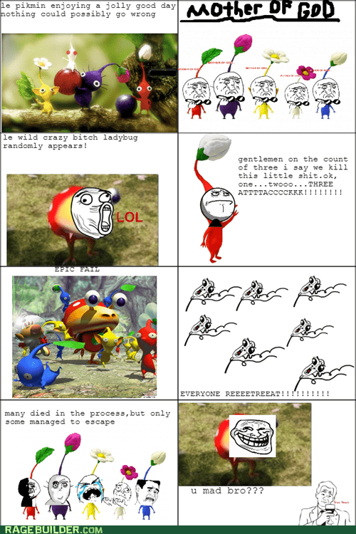 A Day In A Life Of A Pikmin Rage Comics Rage Comics