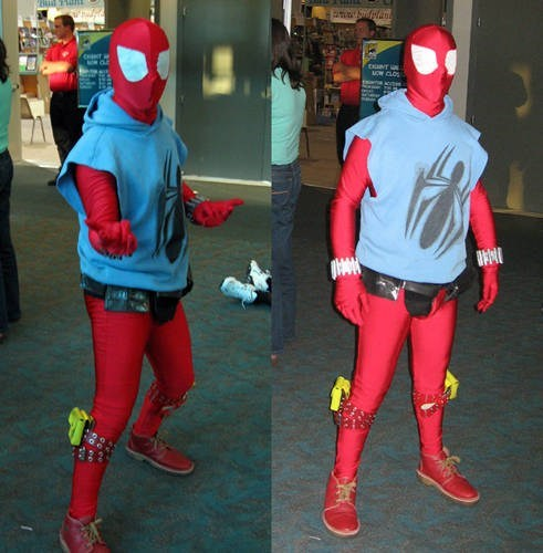 Spider-Man scarlet spider costume
