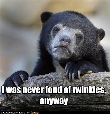 advice animals twinkies Confession Bear - 6783016448