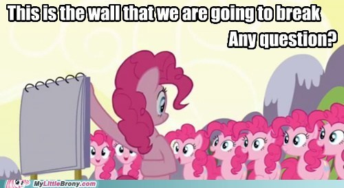 too much broken wall,fourth wall,pinkie pie