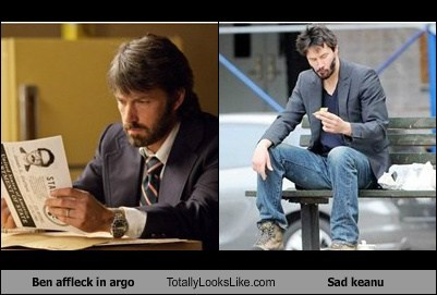 keanu reeves argo actor TLL ben affleck meme sad keanu funny