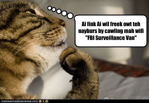 FBI surveillance paranoid creepy internet password van wifi - 6784071168