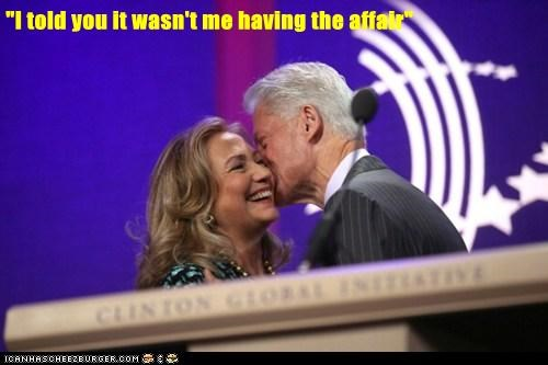 affair,Hillary Clinton,whispering,not me,laughing,bill clinton