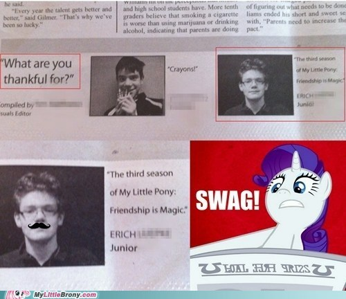 go brony go,swag,third season,newspaper