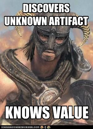 value the elder scrolls Unknown logic Skyrim artifact