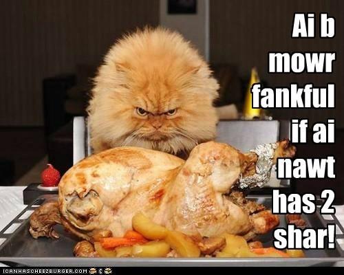 Ai b mowr fankful if ai nawt has 2 shar!