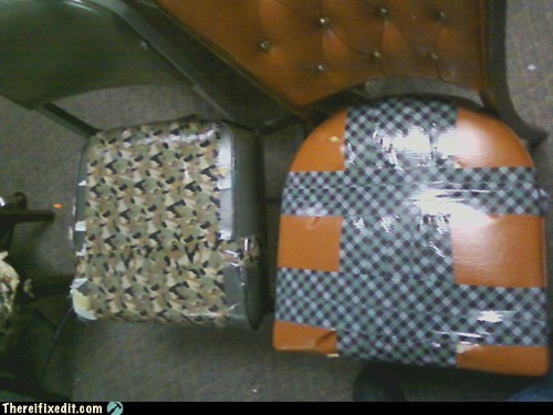 upholstery,chairs,duct tape