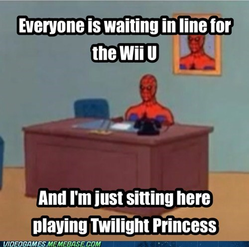 twilight princess,wii U,meme,Spider-Man