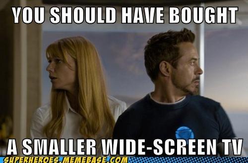 wide screen TV iron man