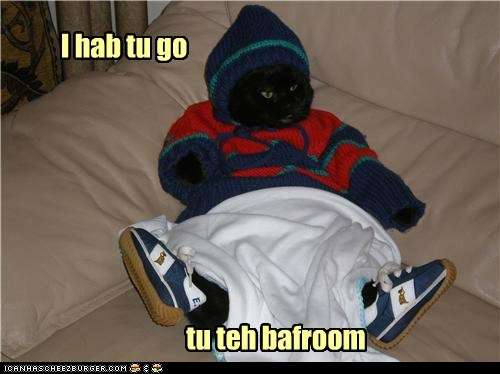 outfit pee captions bathroom winter clothes Cats - 6786174464