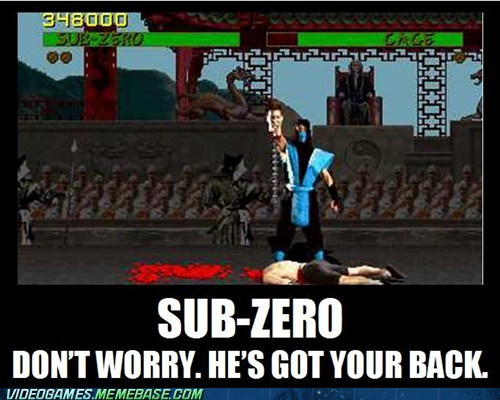 Mortal Kombat fatality good guy Sub Zero - 6786220032