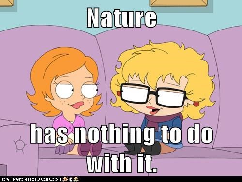 Nature  has nothing to do with it.