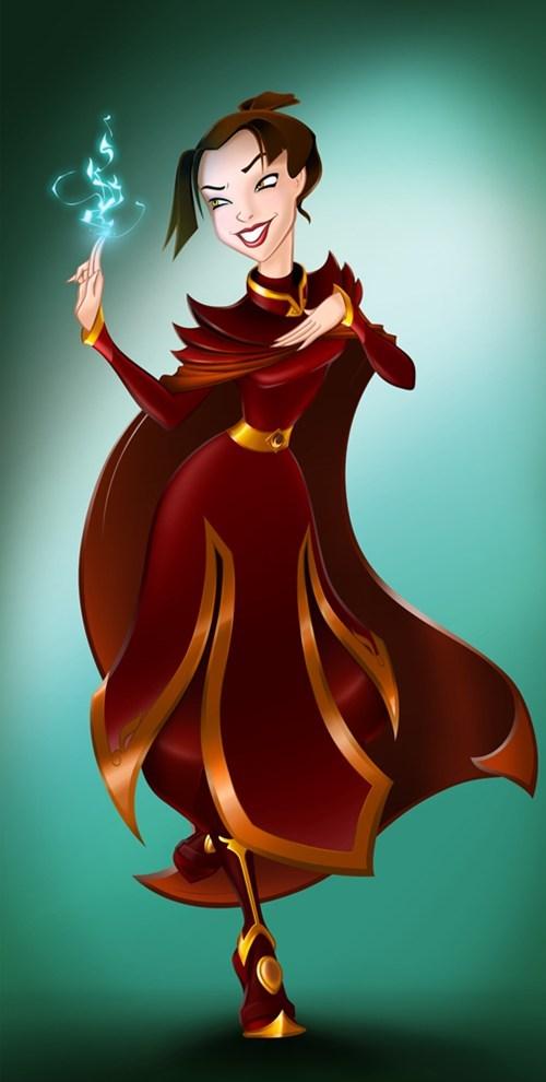 Azula disney princesses Fan Art Avatar the Last Airbender princesses - 6786537216