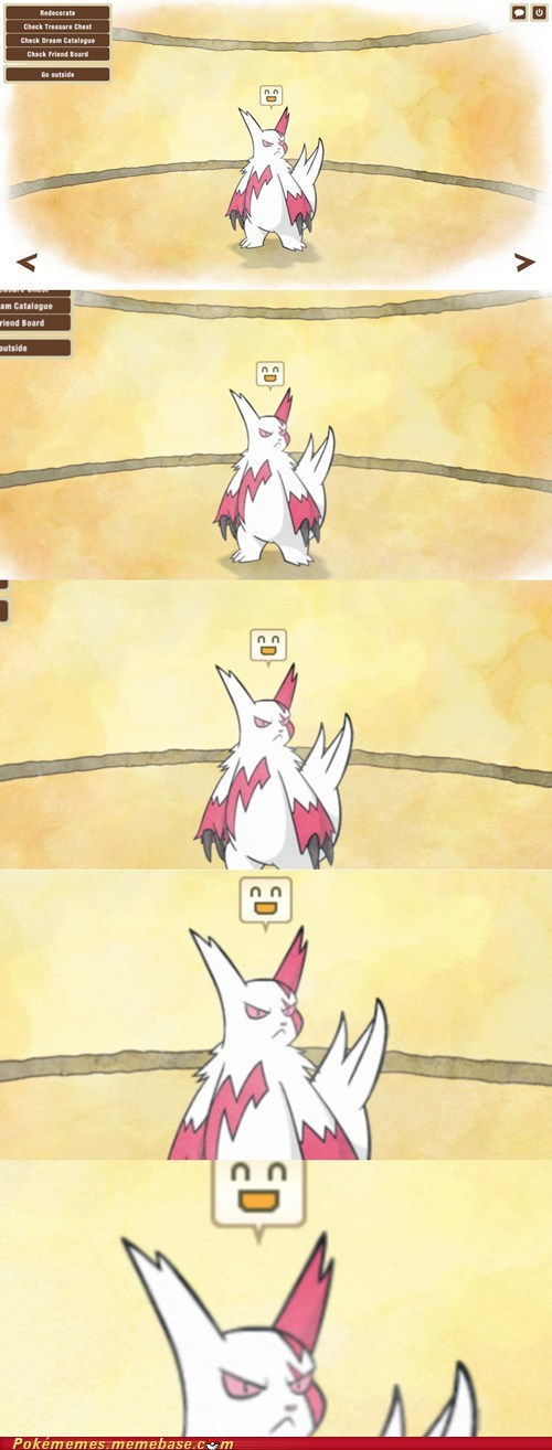 zangoose,dream world,happy