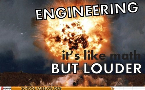 explosions engineering louder majors math