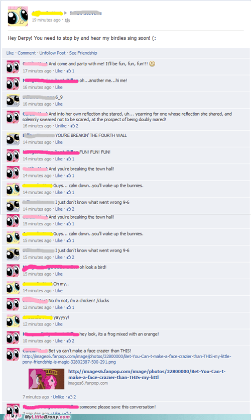 Bronies awesome conversation facebook - 6786896128