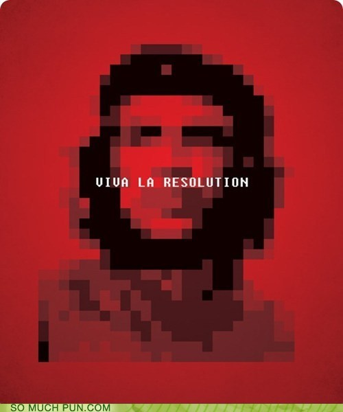 iconography viva la revolution Che Guevara similar sounding literalism resolution revolution - 6786974720