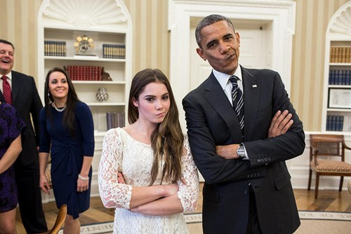mckayla maroney gymnastics not impressed meme barack obama Photo