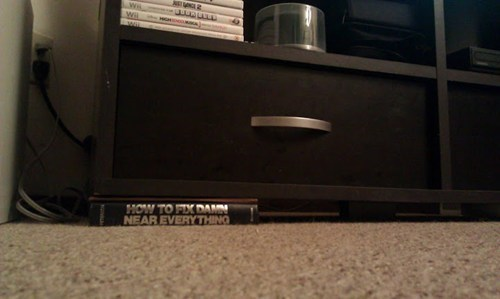 bookshelf tv stand how to fix damn near everything book - 6787851264