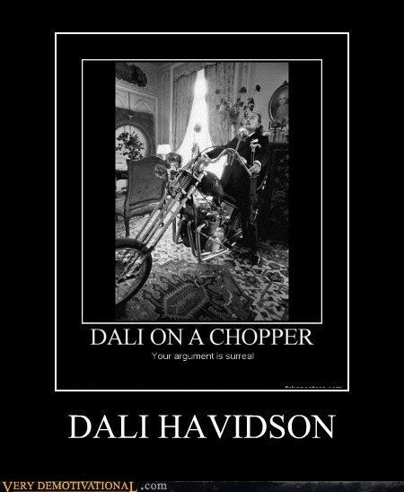surreal harley davidson dali - 6787885312