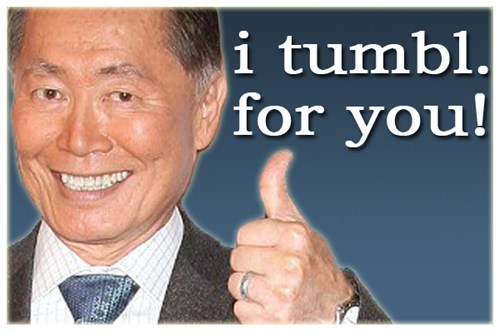 tumblr celeb Star Trek george takei - 6788061952