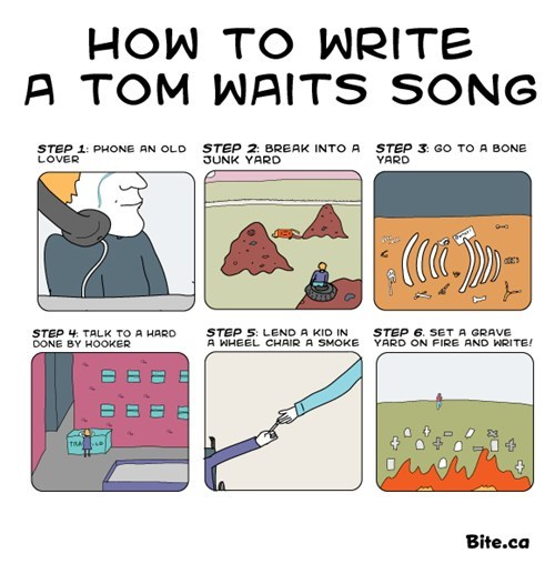 Music Tom Waits song steps