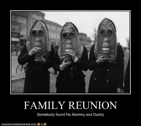 FAMILY REUNION Somebody found his Mommy and Daddy