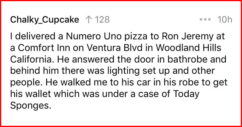 Funny and creepy stories about delivery drivers.